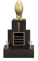 Fantasy Football Walnut Trophy