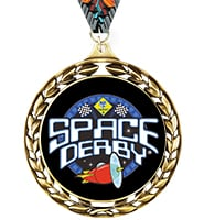 Laurel Wreath Space Derby™ Insert Medal