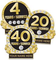 Years Of Service Engravable Pins