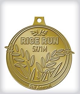 Antique Gold Custom Running Medals
