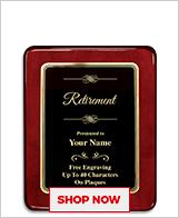 Retirement Awards Plaque