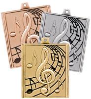 "2 1/4"" Music Stepz Medals"