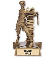 Tennis Male Billboard Sculpture