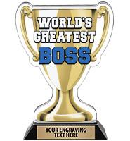 Spectrum Acrylic World's Greatest Boss Trophy