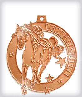 Shiny Bronze Custom Equestrian Medals