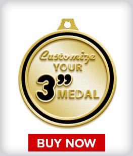 """Custom 3"""" Medal"""