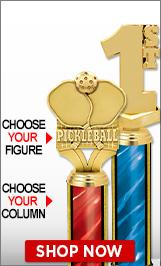 Pickleball Column Trophies