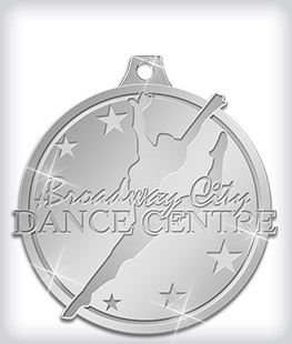 Shiny Silver Custom Dance Medals