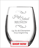 High School Reunion Glassware