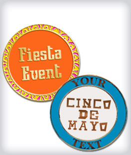 Custom Semi Cloisonne Fiesta Pins