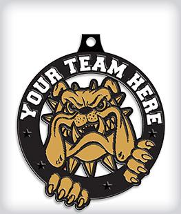 Black Dyed Custom Dog Medals