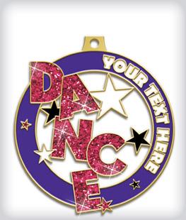 Glitter Custom Dance Medals