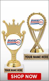 Dixie Baseball Trophies