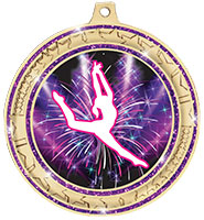 "2 ¾""  Purple Star Trail Glitter Insert Medal"