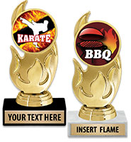 "5 3/4"" Gold Flame Insert Trophy"