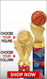 Basketball Column Trophies