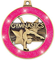"""2"""" Neon Gymnastics Rimz Medal"""