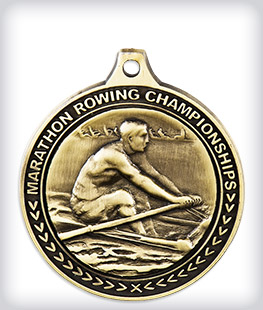 Antique Gold Custom Rowing Medals