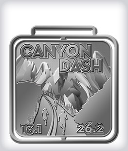 Antique Silver Custom Running Medals