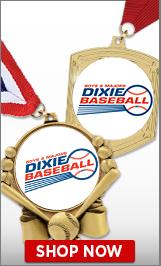 Dixie Baseball Medals