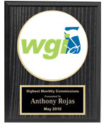 WGI Logo Plaque W/Black Plate