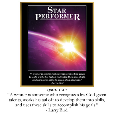 Star Performer Inspiration Plaque