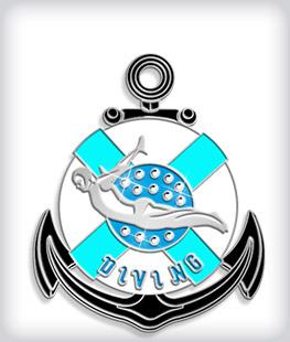 Rhinestone Custom Swim Medals