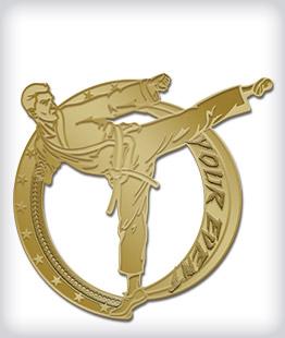 Custom No Color Martial Arts Pins