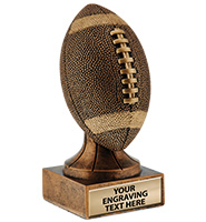 Rustic Football Sport Sculpture