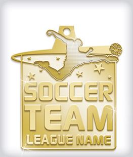 Shiny Gold Custom Soccer Medals