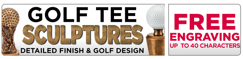 Golf Tee Sculpture Awards