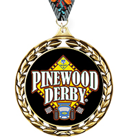 Laurel Wreath Pinewood Derby® Insert Medal