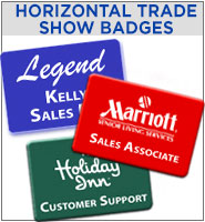 Horizontal Trade Show Badge