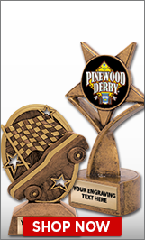 Pinewood Derby Sculptures