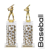 "14""-16"" Platinum Baseball Trophies-Sale"