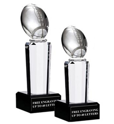 Onyx Pedestal Football Awards