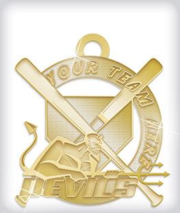 Shiny Gold Custom Mascot Medals