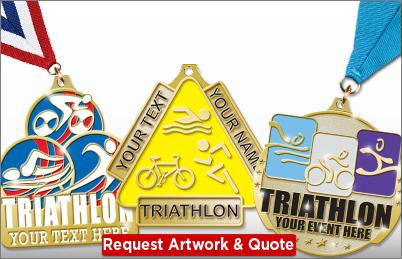 Triathlon Custom Medals