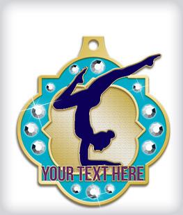 Rhinestone Custom Gymnastics Medals