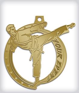 Antique Gold Custom Martial Arts Medals