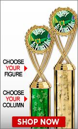 St. Patrick's Day Column Trophies