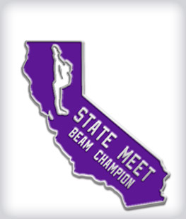 Custom State Shaped Gymnastics Pins