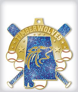 Sample 3 Custom Glitter Medals
