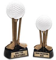 Golf Club Tee Sculptures