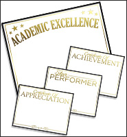 Gold Foil Achievement Certificates