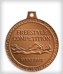 Antique Bronze Custom Swim Medals