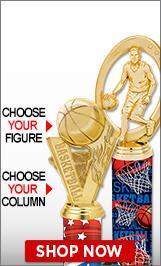 Basketball Column Trophies