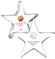 "5"" Clear Star"