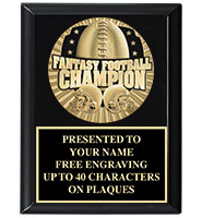 Fantasy Football Medallion Plaque