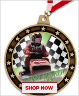 Lawn Mower Racing Medals
